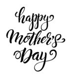 Happy Mothers Day badge. Happy Mothers Day emblems or badge hand drawn calligraphy. Black vector lettering design for banners poster logo or greeting card on a vector illustration