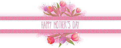 Happy Mothers Day Banner Royalty Free Stock Photography