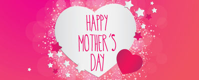 Happy mothers day banner Royalty Free Stock Photos