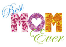 Best MOM Ever Alphabet Illustration Royalty Free Stock Images