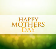 Happy Mothers Day bokeh light sign Royalty Free Stock Images