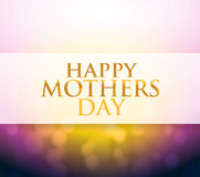 Happy Mothers Day bokeh light sign Stock Photo