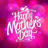 Happy Mothers day on a bokeh lights background. Royalty Free Stock Images
