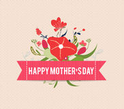 Happy mothers day bright spring with label Royalty Free Stock Photo
