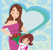 Happy Mothers Day card Stock Photography