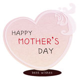 Happy mothers day card Royalty Free Stock Photos
