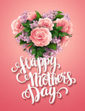 Happy Mothers Day. Card with beautiful flowers Royalty Free Stock Photography