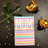 Happy mothers day. Mothers day card bees stock image