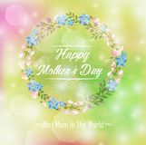 Happy mothers day card. Bright spring concept floral Stock Photo