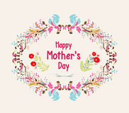 Happy mothers day card. Bright spring concept illustration with Stock Images