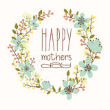 Happy mothers day card. Bright spring concept illustration with flowers in vector Stock Image