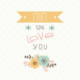 Happy mothers day card. Royalty Free Stock Images