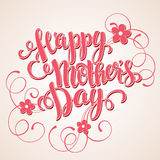 Happy mothers day Card. Calligraphic inscription Stock Image