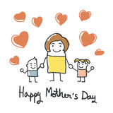 Happy mothers day card Stock Image