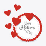 Happy mothers day card design. Royalty Free Stock Images