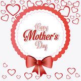 Happy mothers day card design. Royalty Free Stock Photography