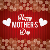 Happy mothers day card design. Stock Photos