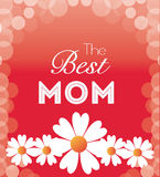 Happy mothers day card design. Stock Photo