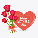Happy mothers day card design. Royalty Free Stock Image
