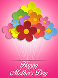 Happy Mothers Day Card with Flowers Royalty Free Stock Photo