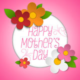 Happy Mothers Day Card with Flowers Stock Photography