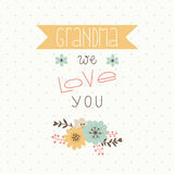 Happy mothers day card. Royalty Free Stock Photo