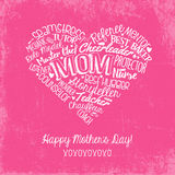 Happy Mothers Day card with handwritten words Stock Photos
