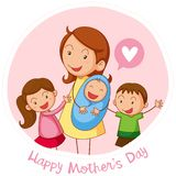 Happy Mothers day card. Illustration stock illustration