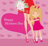 Happy Mothers Day  card Royalty Free Stock Image