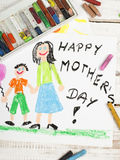 Happy mothers day card Royalty Free Stock Photography
