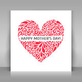 Happy mothers day card. Stock Images