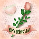 Happy mothers day, card with rose royalty free illustration