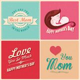 Happy Mothers Day card template Royalty Free Stock Images