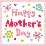 Happy Mothers Day card Stock Photo