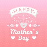 Happy mothers day card vintage retro type font Stock Photo
