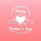 Happy mothers day card vintage retro type font Stock Images