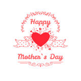 Happy mothers day card vintage retro type font Stock Photography