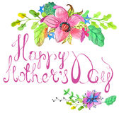 Happy mothers day card Royalty Free Stock Photo