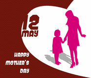 Happy Mothers Day celebration  illustration Royalty Free Stock Photography