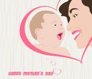 Happy Mothers Day celebration  illustration Stock Photography