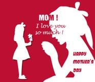 Happy Mothers Day celebration  illustration Stock Photo