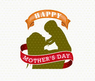 Happy Mothers Day celebration  illustration Royalty Free Stock Image