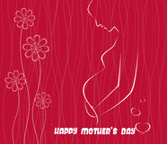 Happy Mothers Day celebration vector illustration Royalty Free Stock Images