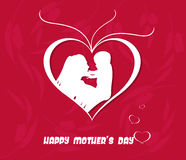 Happy Mothers Day celebration vector illustration Royalty Free Stock Photos