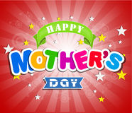 Happy Mothers Day celebration vector illustration Stock Image