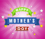Happy Mothers Day celebration vector illustration Stock Photography