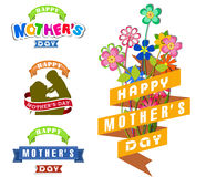 Happy Mothers Day celebration vector illustration Royalty Free Stock Photo