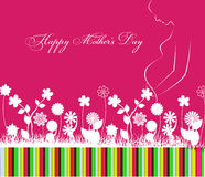 Happy Mothers Day celebration vector illustration Royalty Free Stock Photography