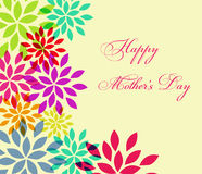 Happy Mothers Day celebration vector illustration Stock Photos