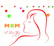 Happy Mothers Day celebration vector illustration Stock Photo